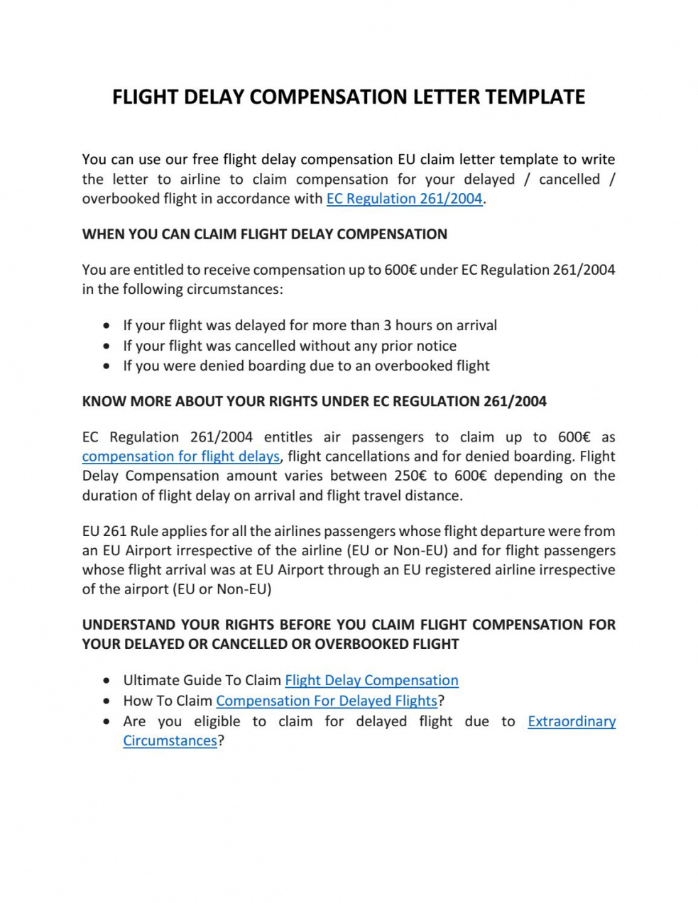 printable flight compensation letter template by claim flights  issuu compensation claim letter template sample