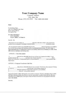 printable foreclosure letter template download foreclosure letter template sample