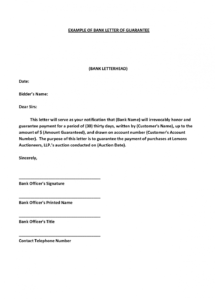 printable form: personal guarantee form personal guarantee letter template
