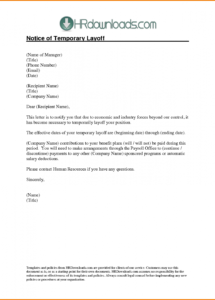 printable layoff letter template  authorization letter pdf temporary layoff letter template doc