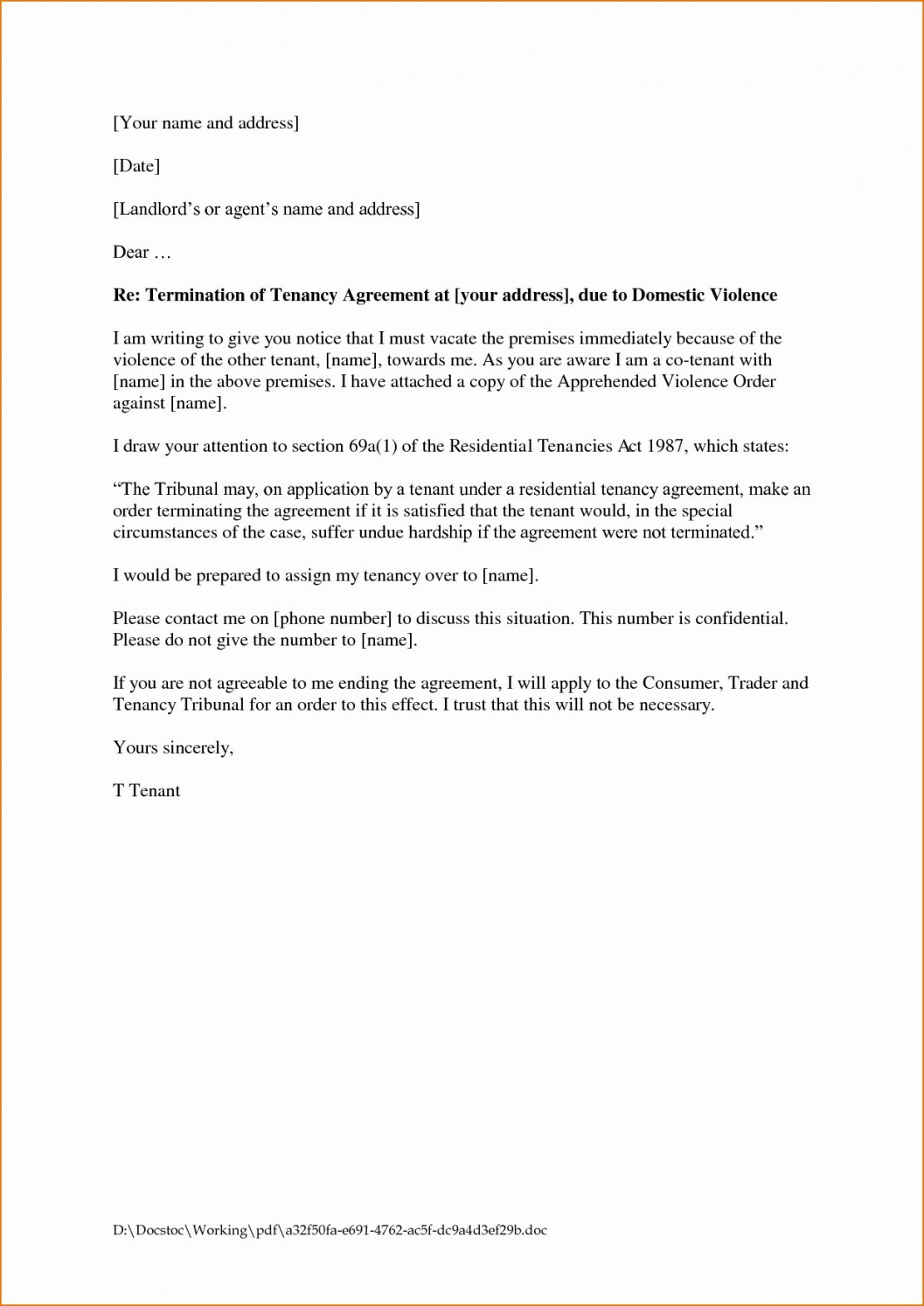 printable leaseent termination letter format rental best template end tenancy rental contract cancellation letter template sample