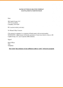 printable letter format for guarantor personal guarantee new employment sample personal guarantee letter template doc