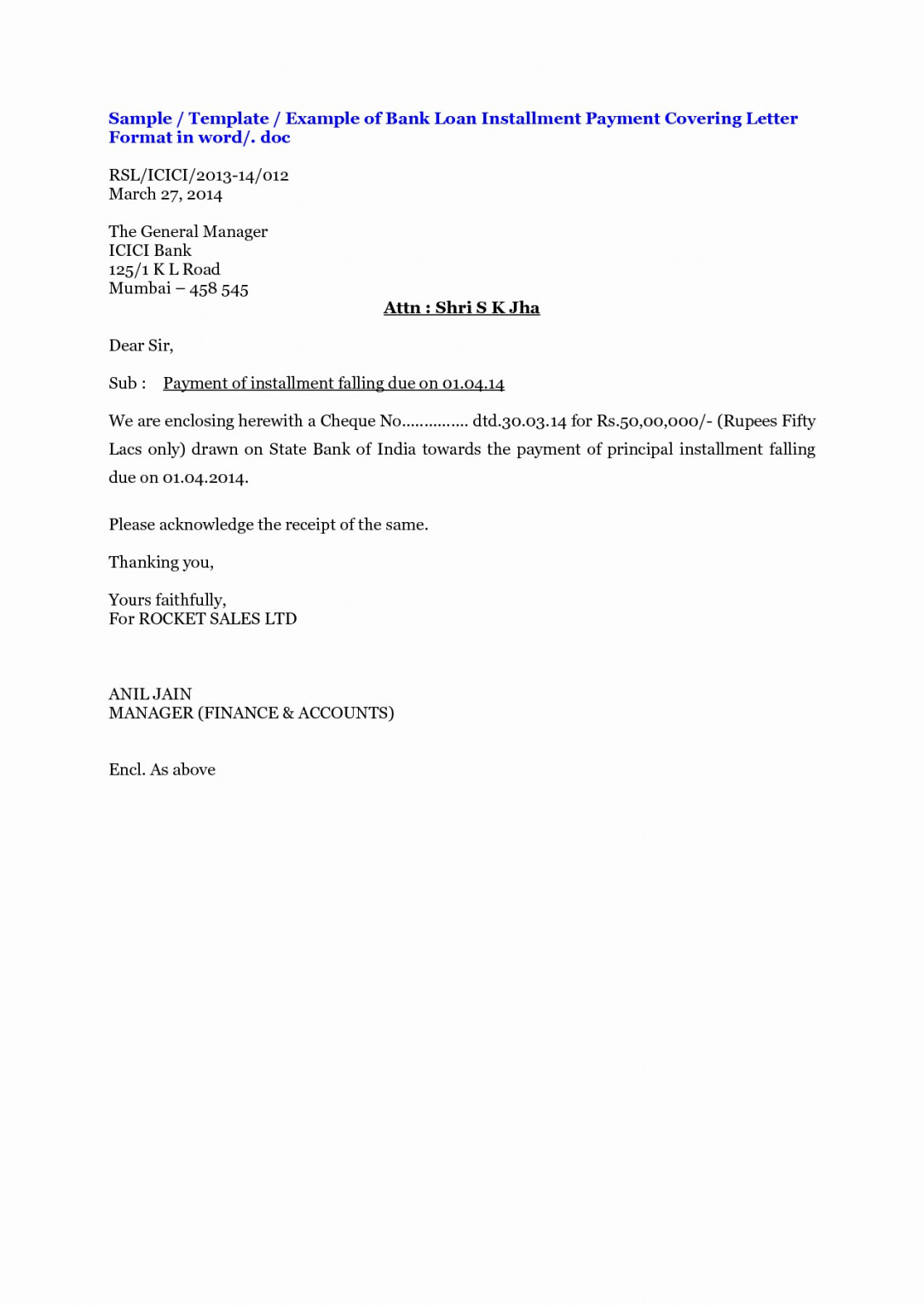 printable loan repayment letter template collection  letter template collection loan repayment letter template doc