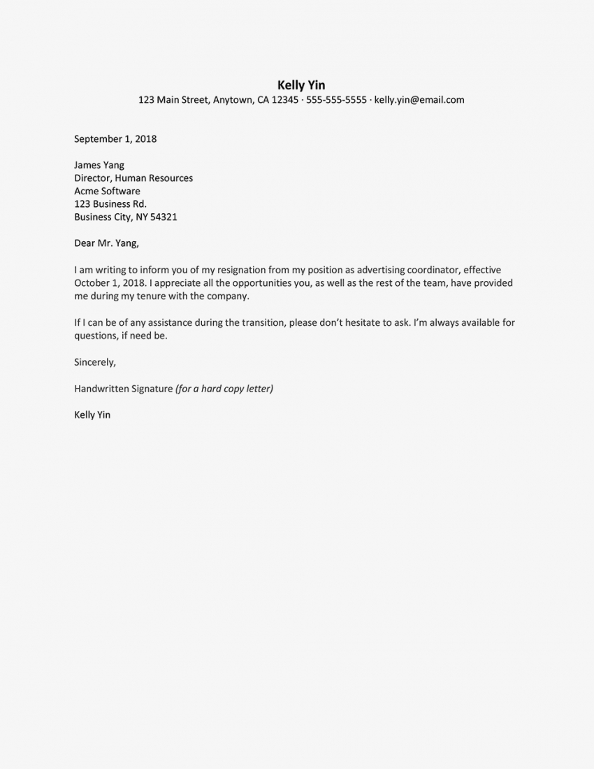 printable resignation letter templates quitting letter template
