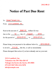 rent past due  koranayodhyaco past due rent demand letter template sample