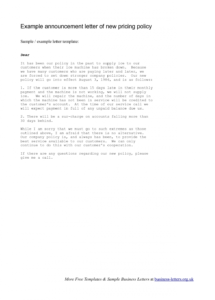sample company memo announcing new vendor  example announcement warning letter to vendor pdf