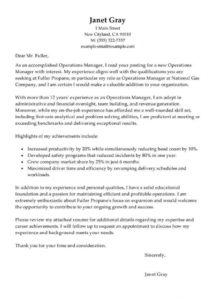 best operations manager cover letter examples  livecareer operations manager cover letter template pdf