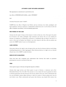 editable attorney client retainer agreement this agreement is entered into attorney client retainer agreement template example