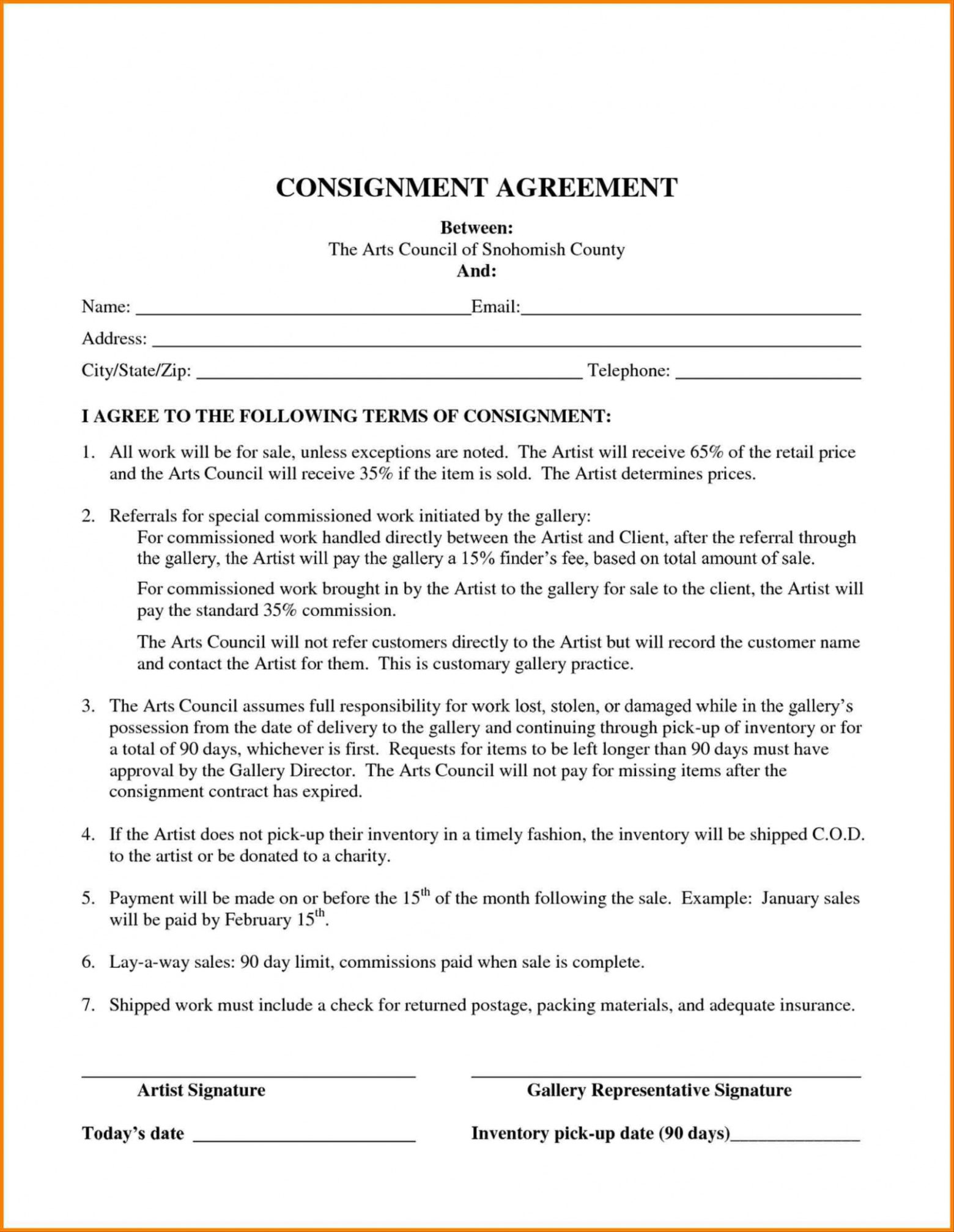 editable consignment agreement form  ajancicerosco auto consignment agreement template pdf