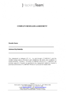 editable free company reseller agreement  templates at product reseller agreement template