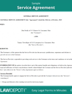 editable free service agreement  create, download, and print  lawdepot (us) standard services agreement template example
