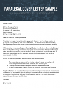 editable paralegal cover letter example  resume genius paralegal cover letter template