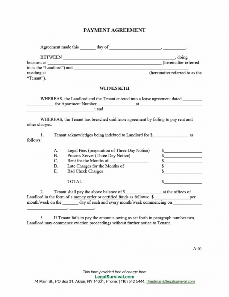 editable payment agreement  40 templates & contracts ᐅ template lab money owed agreement template sample