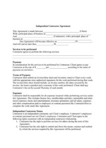 free 50+ free independent contractor agreement forms & templates travel service agreement template example
