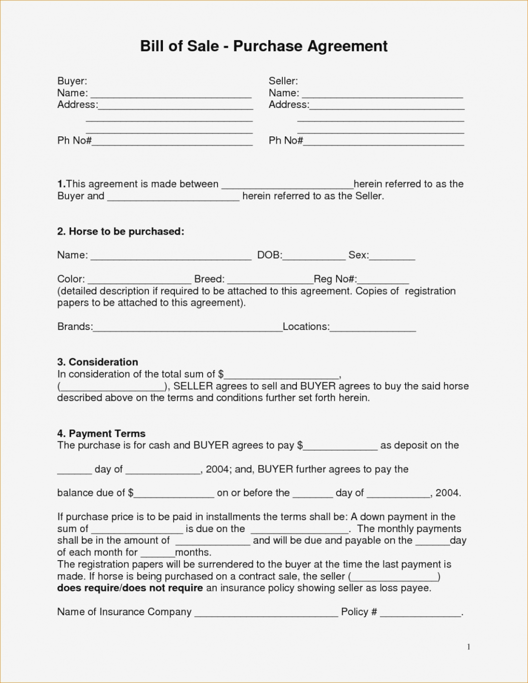Free Boat Partnership Agreement Form Special Best Gallery