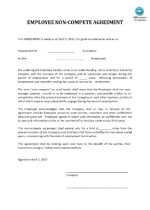 free free non competition agreement  templates at allbusinesstemplates business non compete agreement template pdf