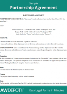 free free partnership agreement  create, download, and print  lawdepot (us) shared equity agreement template pdf