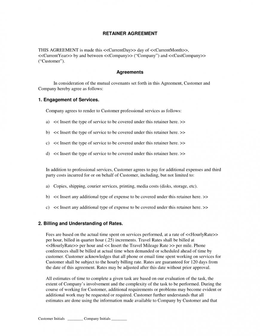 Marketing Retainer Agreement Template