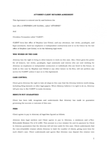 free lawyer agreement form  papillonnorthwan legal retainer agreement template