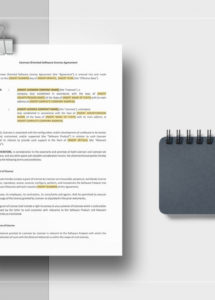 free licensee oriented software license agreement template in word, apple technology licensing agreement template example