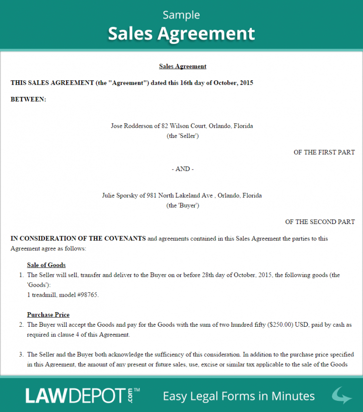 Sales Contractor Agreement Template