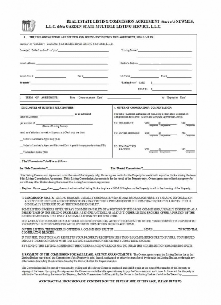 printable 36 free commission agreements (sales, real estate, contractor) independent contractor commission agreement template sample