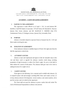 printable attorney client retainer agreement document  retainership agreement attorney client retainer agreement template doc