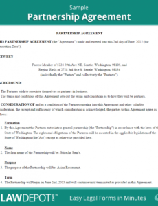 printable free partnership agreement  create, download, and print  lawdepot (us) it partnership agreement template doc