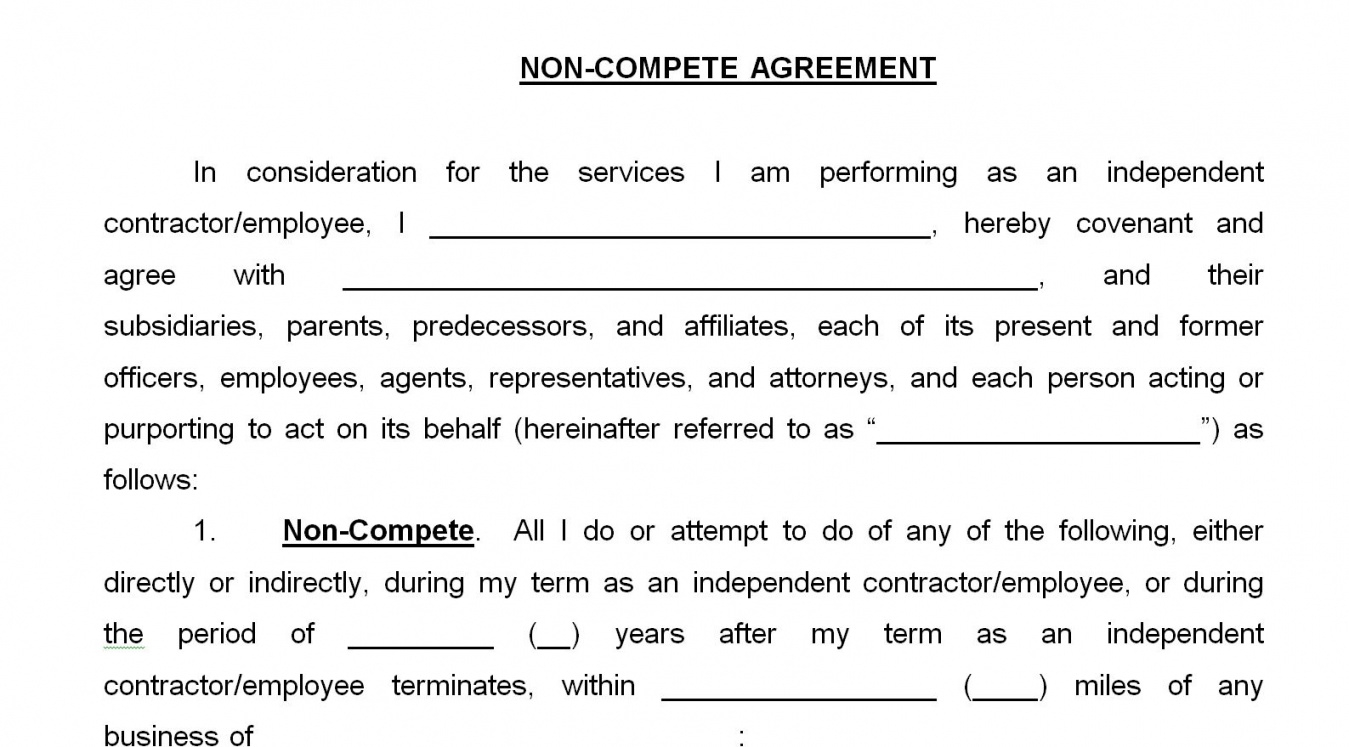 printable non compete agreement massachusetts template  lofts at cherokee studios no competition agreement template sample