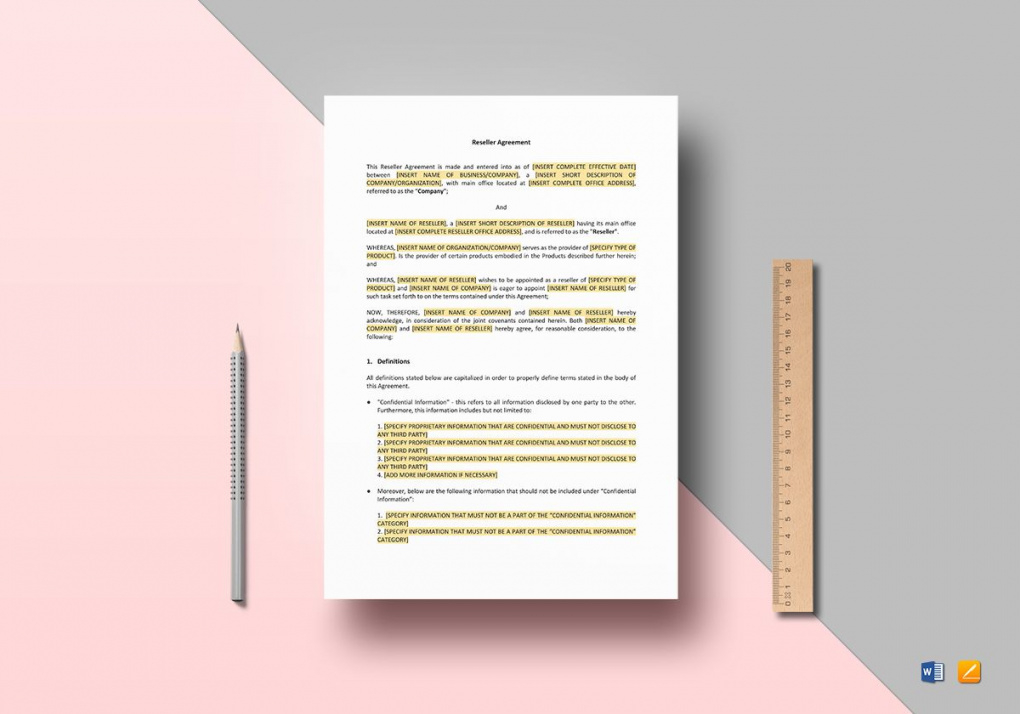 printable reseller agreement template in word, apple pages product reseller agreement template pdf