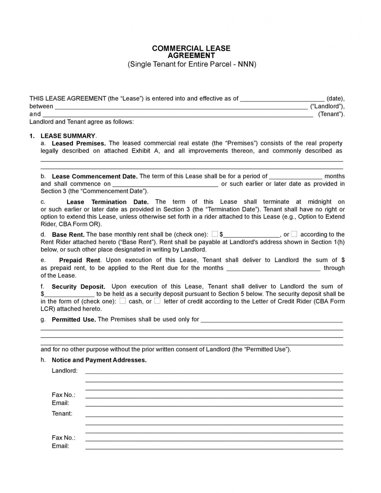 26 free commercial lease agreement templates  templatelab real estate lease agreement template example