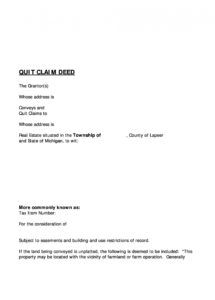 46 free quit claim deed forms & templates  templatelab quit claim letter template pdf