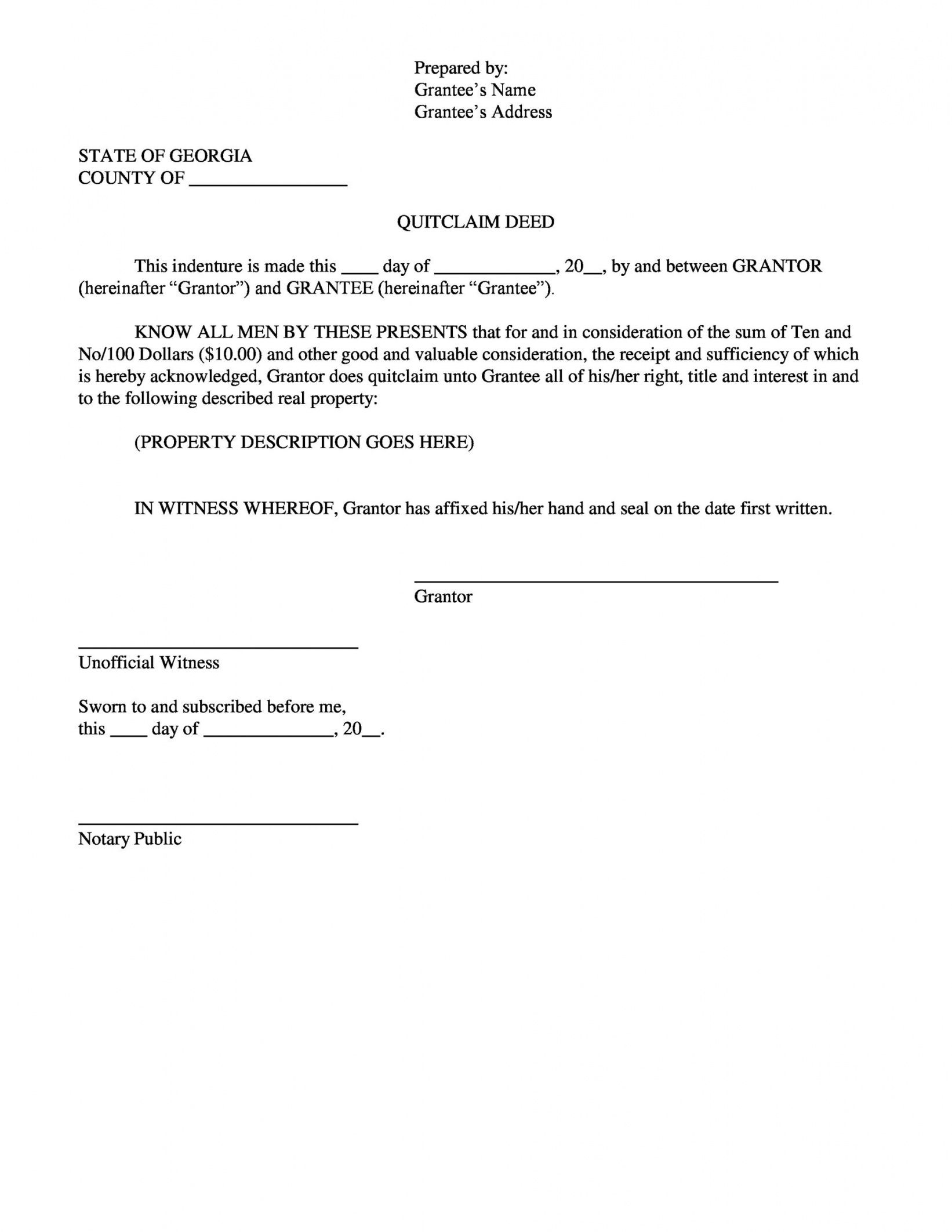 editable 46 free quit claim deed forms & templates  templatelab quit claim letter template pdf