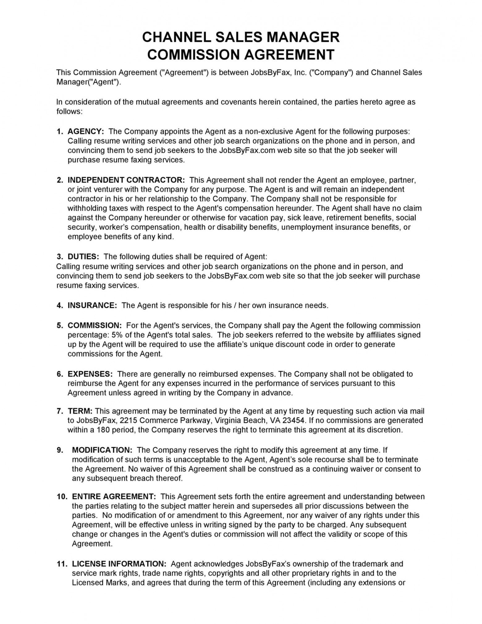 free 36 free commission agreements sales real estate contractor real estate license agreement template pdf