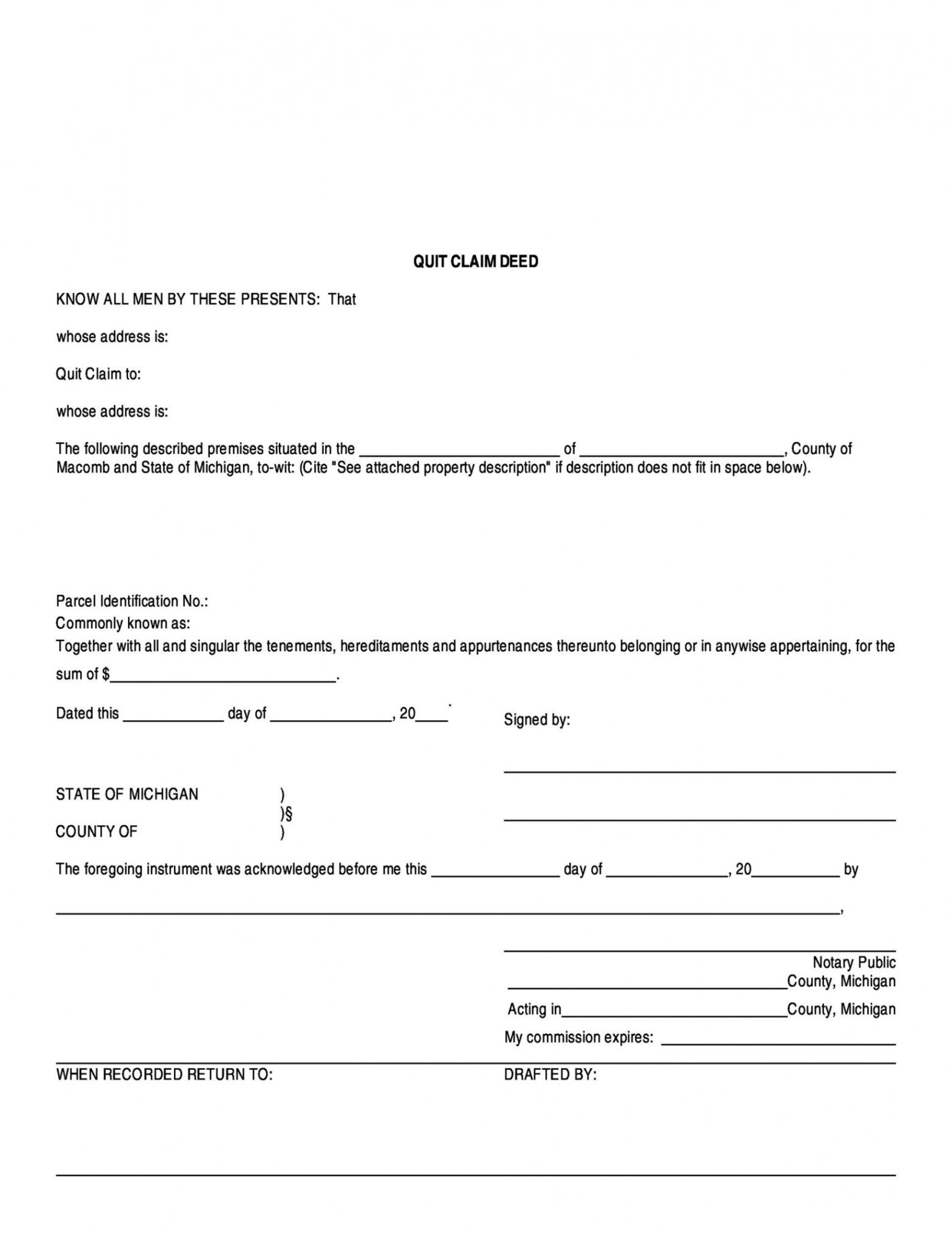 free 46 free quit claim deed forms & templates  templatelab quit claim letter template