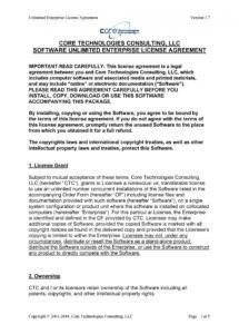 free 50 professional license agreement templates ᐅ templatelab enterprise license agreement template