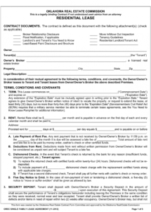 free free oklahoma standard residential lease agreement template real estate lease agreement template example