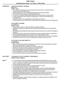 free investment advisor resume samples  velvet jobs investment advisory agreement template sample