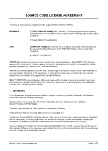 free source code license agreement template  by businessinabox™ source code license agreement template sample