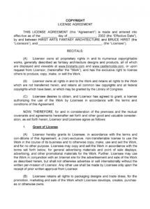 printable 50 professional license agreement templates  templatelab copyright license agreement template pdf