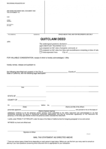 printable ca quitclaim deed  complete legal document online  us quit claim letter template doc