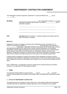 printable contract agreement  fill online printable fillable blank medical independent contractor agreement template example