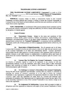 sample free 13 trademark license agreement forms in pdf  ms word trademark license agreement template sample