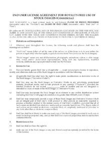 stock photo license for commercial use stock photo license agreement template