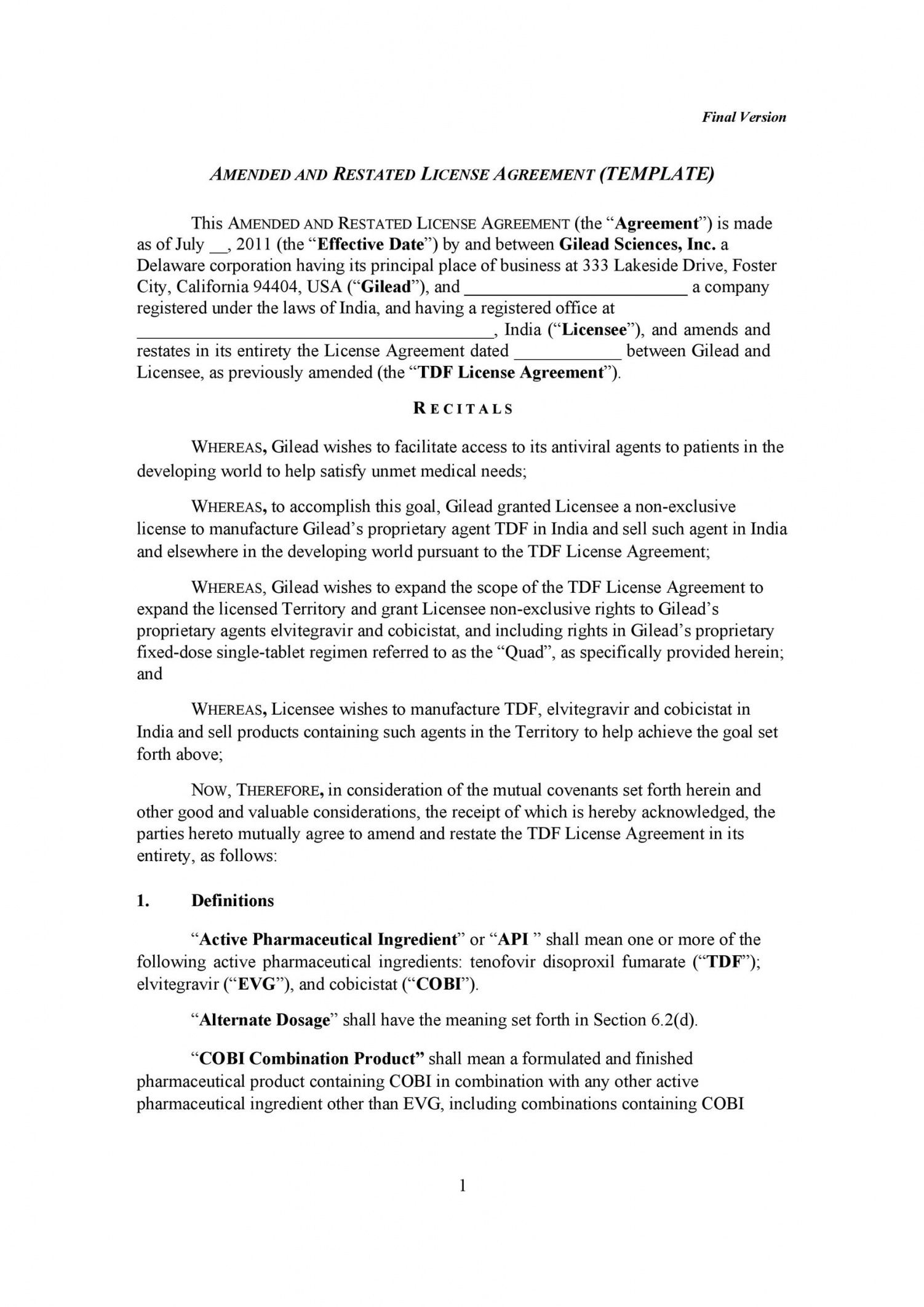 50 professional license agreement templates  templatelab manufacturing license agreement template pdf