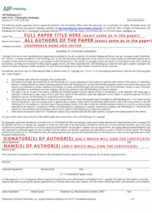 aip copyright transfer agreement  icnaam copyright transfer agreement template example