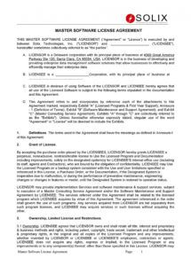 editable 50 professional license agreement templates  templatelab data license agreement template