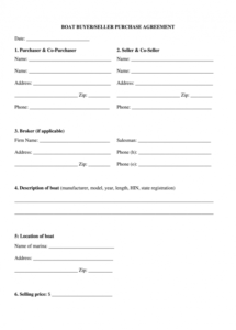 editable boat purchase agreement pdf  fill out and sign printable pdf template   signnow marine purchase agreement template sample