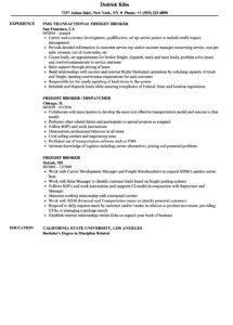 editable freight broker resume samples  velvet jobs freight broker agent agreement template excel