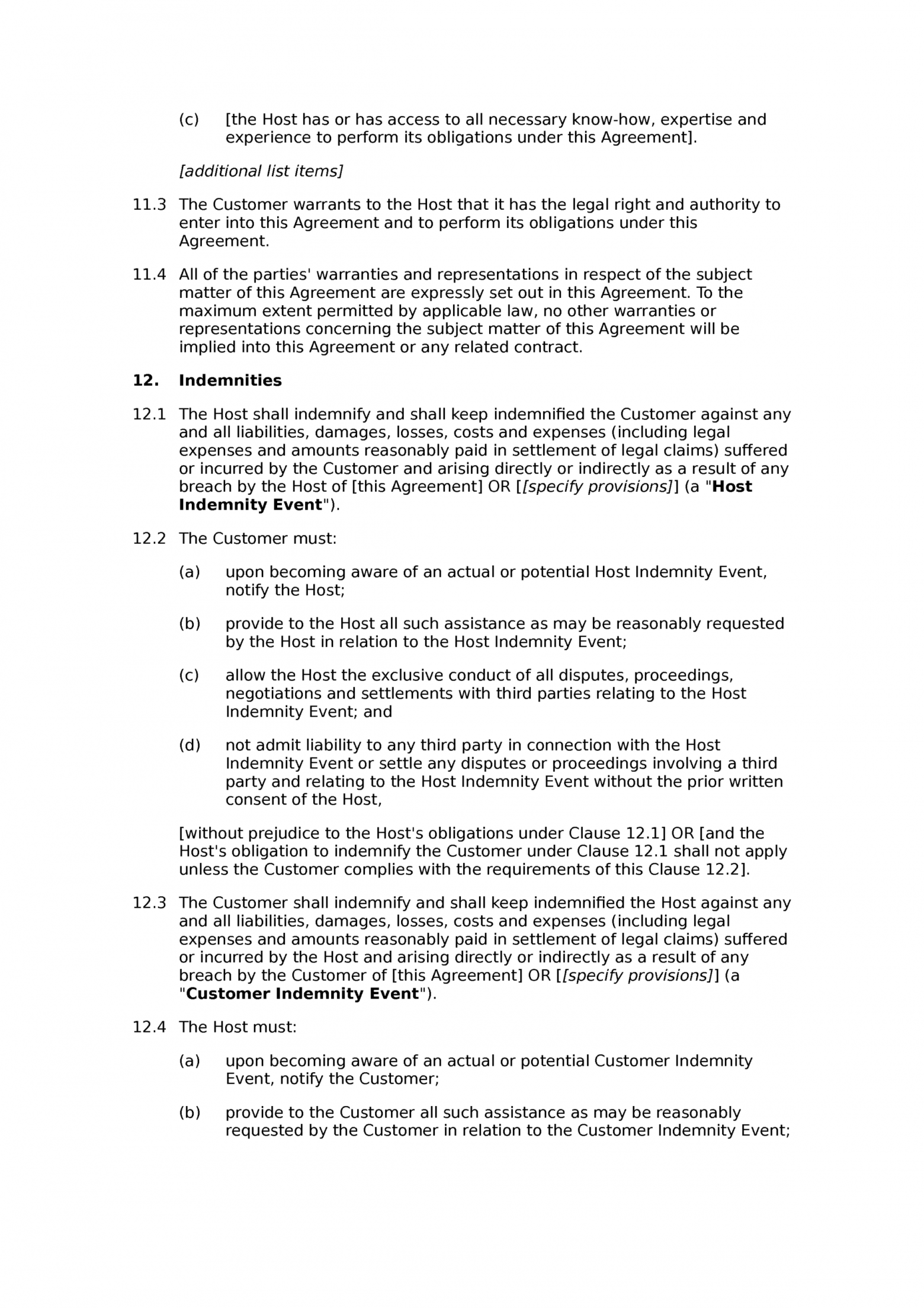Service level agreement template example 4 pandadoc